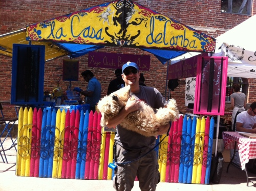 Barney and Laly in front of Casa de la Camba, serving Bolivian food at Smorgasburg DUMBO.